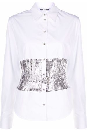 Paco rabanne Sequin-embellished cotton shirt