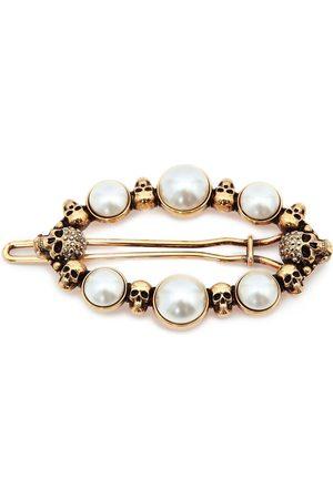 Alexander McQueen Pearl skull hair clip