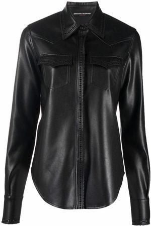 ERMANNO SCERVINO Button-up faux leather shirt