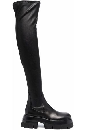 VERSACE Women High Leg Boots - Leather over-the-knee boots