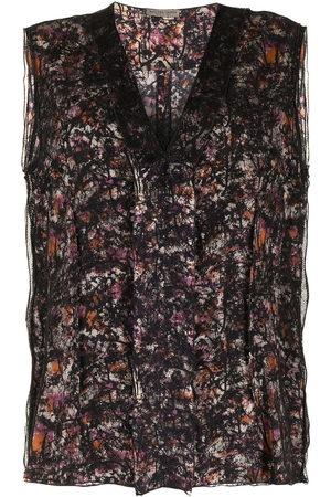 Bottega Veneta Women Tank Tops - Abstract pattern sleeveless top