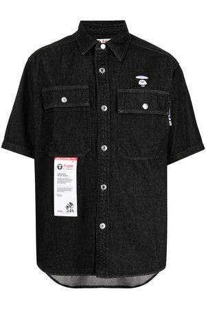 AAPE BY A BATHING APE Short-sleeve denim shirt