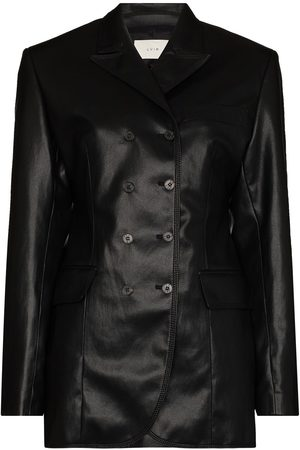 LVIR Double-breasted faux-leather blazer