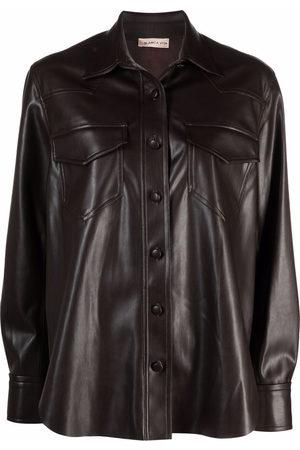 BLANCA Women Long Sleeve - Faux-leather shirt