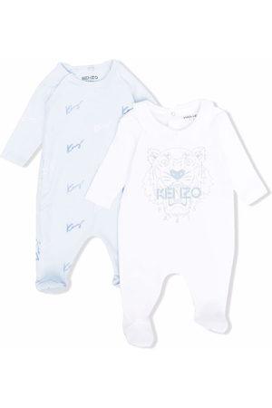 Kenzo 2 pack logo-print pajamas