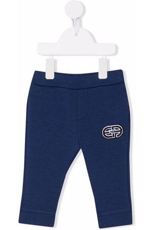 Emporio Armani Embroidered track track pants