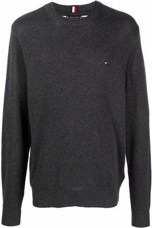 Tommy Hilfiger Organic cotton logo-patch jumper