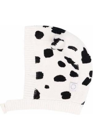 Stella McCartney Dalmatian spots knitted hat