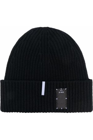 McQ Logo-patch ribbed wool beanie