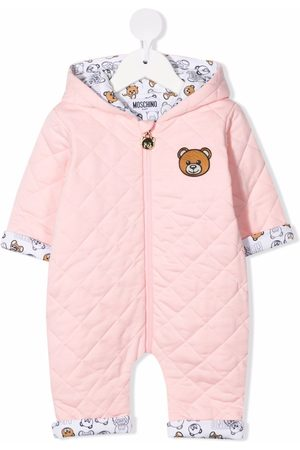 Moschino Quilted teddy bear-motif romper