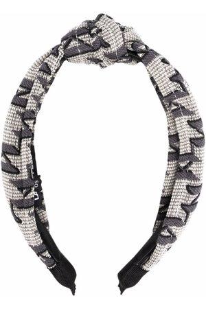 Karl Lagerfeld Monogram jacquard headband