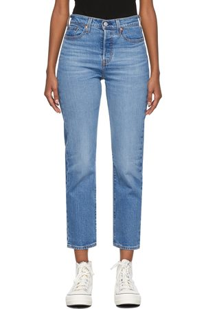 Women Straight - Levi's Blue Wedgie-Fit Straight Jeans