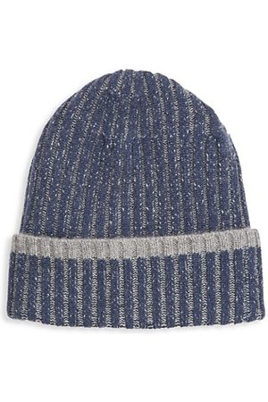 Saks Fifth Avenue Men Beanies - COLLECTION Two-Tone Ribbed Wool Beanie