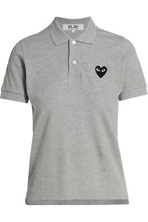 Comme des Garçons Embroidered Heart Polo