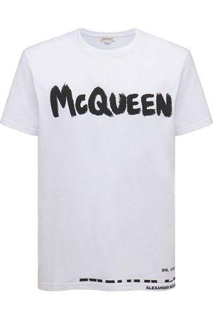 Alexander McQueen Men T-shirts - Printed Logo Cotton T-shirt