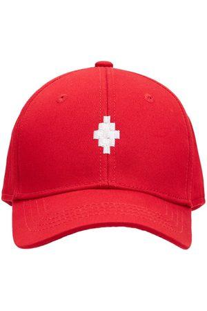 MARCELO BURLON Embroidered Logo Cotton Baseball Hat