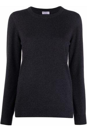Brunello Cucinelli Women Long Sleeve - Long-sleeved cashmere-knit top