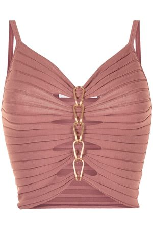 DION LEE Women Vests - Central chain-detail cami top