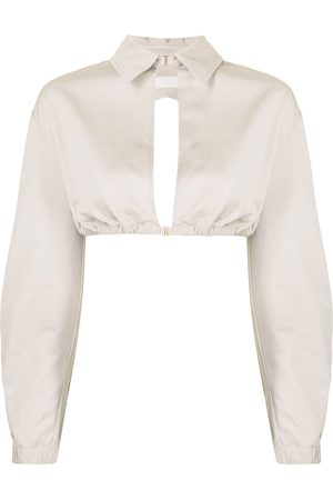 DION LEE Women Long Sleeve - Cut-out cropped shirt
