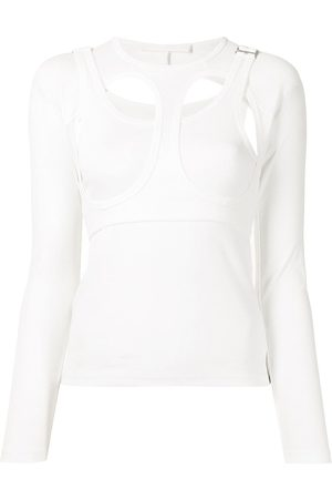 DION LEE Women Tops - Cut-out layered cotton top