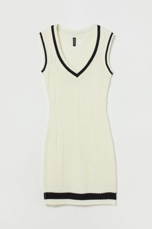 H&M Knitted sweater-vest dress