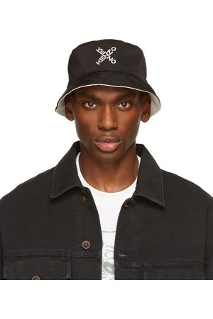 Men Hats - Kenzo Reversible & White Sport Bucket Hat