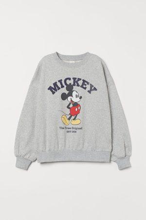 H&M Printed sweatshirt - Grey