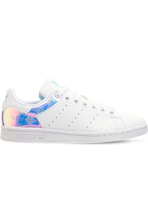 adidas Girls Sneakers - Stan Smith Leather Lace-up Sneakers
