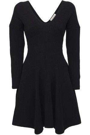 Alexander McQueen Women Knitted Dresses - Wool & Cashmere Knit Mini Dress