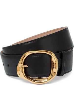 Alexander McQueen Molten leather belt