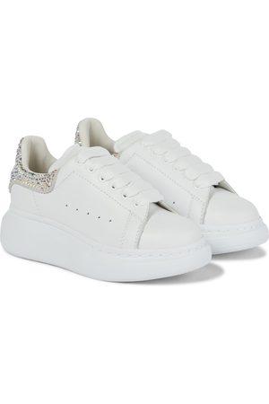Alexander McQueen Embellished leather sneakers