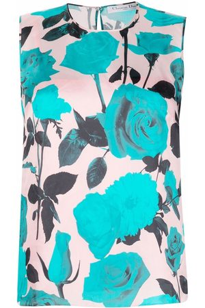 Dior 2010s pre-owned rose print sleeveless top