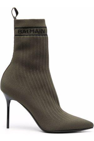 Balmain Women Boots - Skye-knit boots