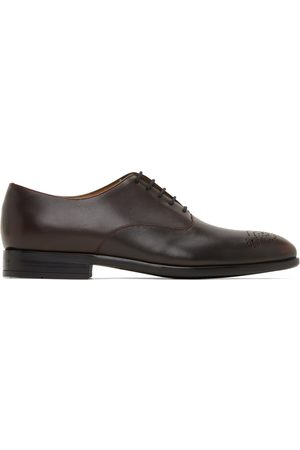 Men Formal Shoes - PS by Paul Smith Brown Leather Guy Oxfords