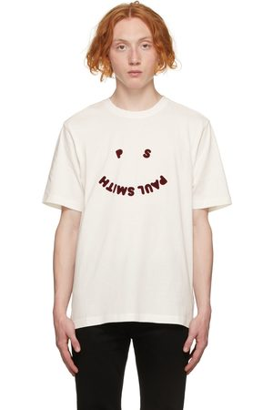 Men Short Sleeve - PS by Paul Smith Off- Happy T-Shirt