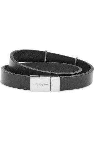 Saint Laurent YSL Logo Double Wrap Bracelet