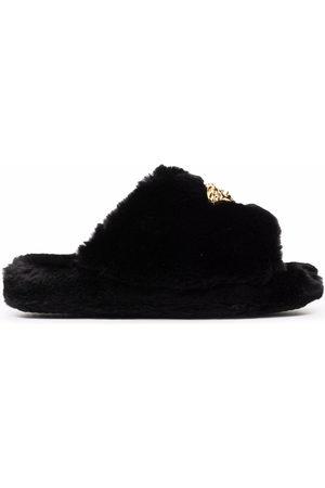 VERSACE Indoor Shoes - Medusa-plaque open-toe slippers