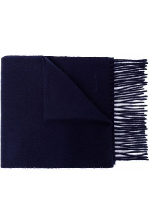 Paul Smith Embroidered-logo cashmere scarf