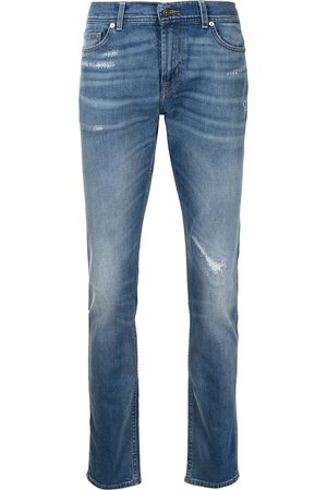 7 for all Mankind Distressed-finish jeans