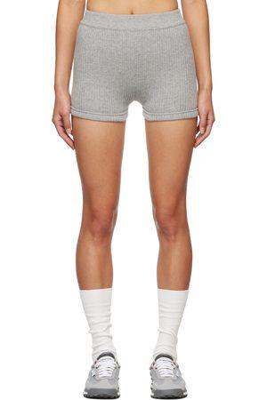 Thom Browne Grey Cashmere Rib Brief Boy Shorts