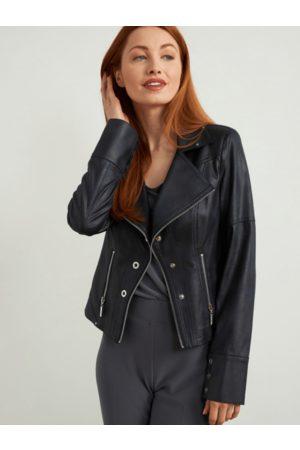 Joseph Ribkoff Women Leather Jackets - Faux Leather Jacket 213945