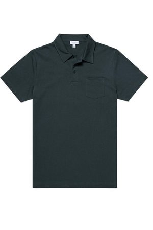 Sunspel Men Polo Shirts - Riviera S/S Polo Forest