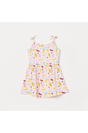 Juniors Girls Printed Fit and Flare Dress