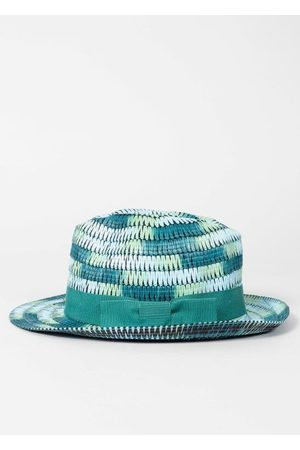 Paul Smith Men Hats - Turquoise Space Dye Trilby Hat