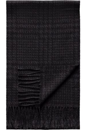 Eton And Grey Dogtooth Wool Scarf A0003284419