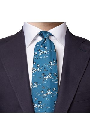 Eton Mid Bird Print Silk Tie A0003310525