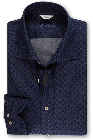 Stenströms Dark Casual Medallion Print Shirt 7759218297821