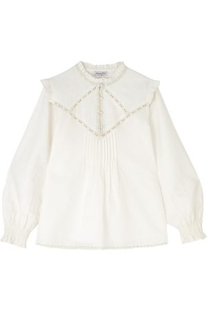 LILY AND LIONEL Women Tops - Faye Cotton Mix Top - Ivory