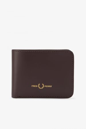 Fred Perry Fred Perry Matt Leather Billfold Wallet - Ox Blood