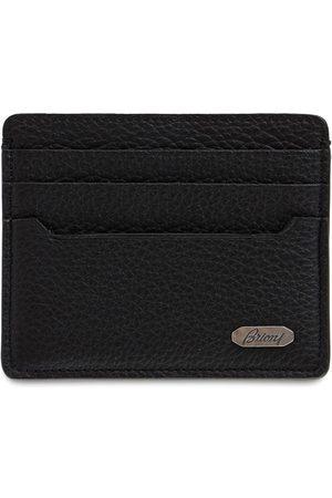 BRIONI Men Wallets - Metal Logo Leather Card Holder